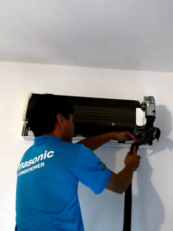 Cleaning aircon base cover
